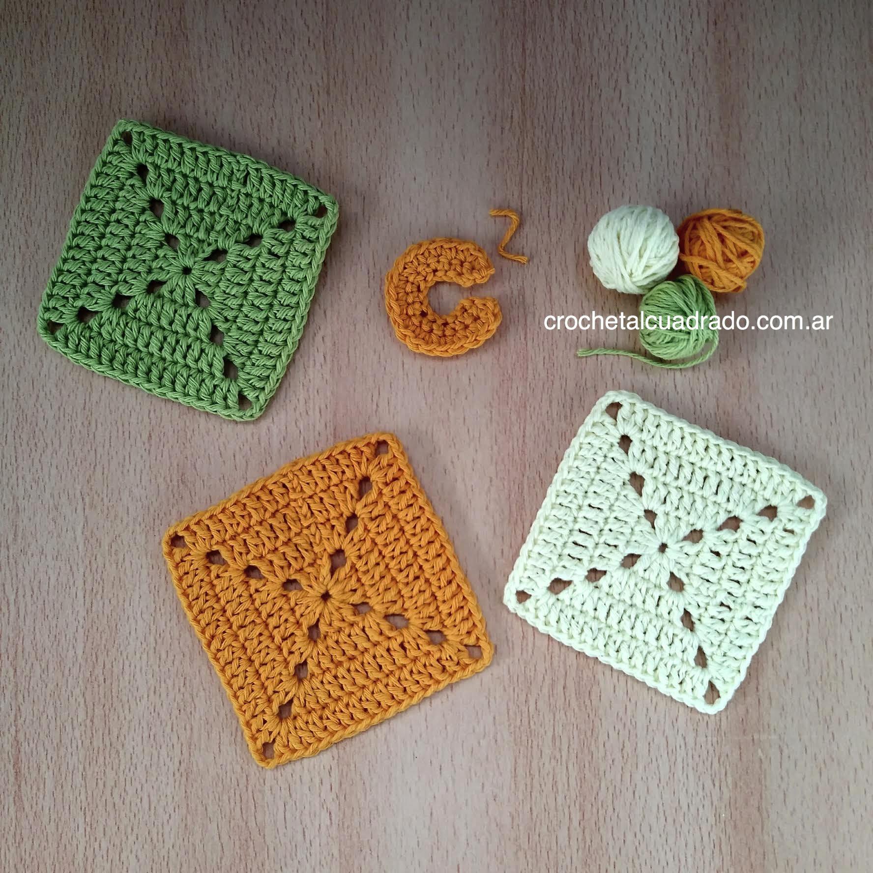 cuadrado crochet compacto
