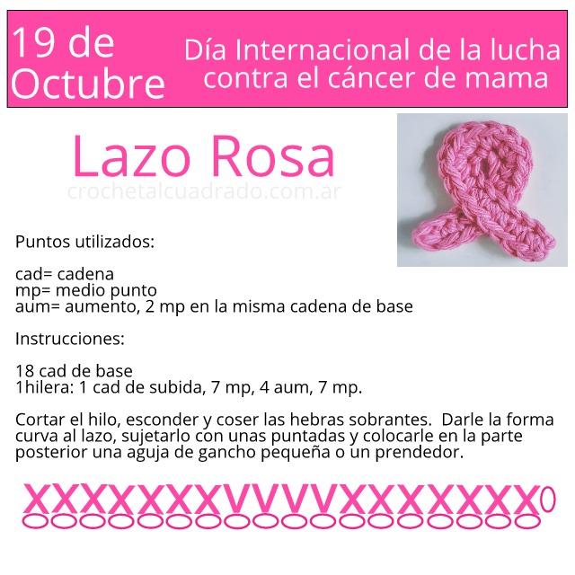 lazo rosa crochet