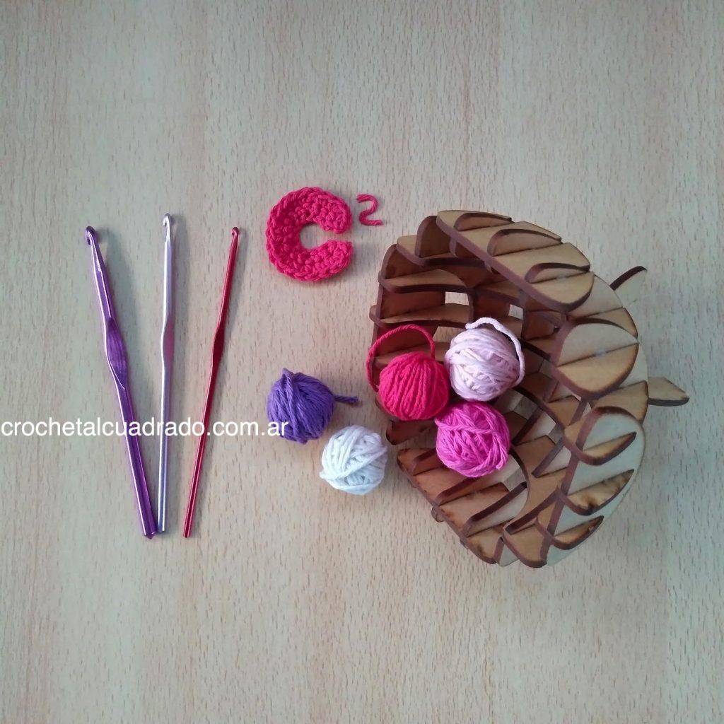 porta ovillo crochet