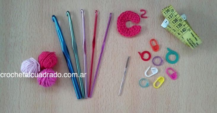 materiales inicio crochet