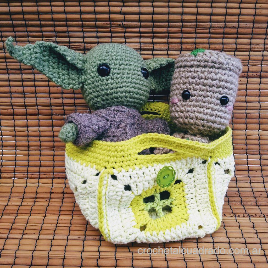 canasta al crochet