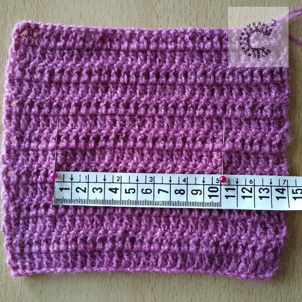 muestra crochet ancho