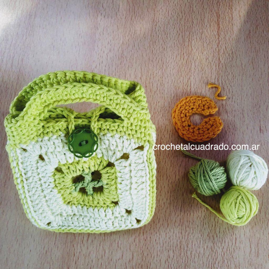 canasta multiuso al crochet