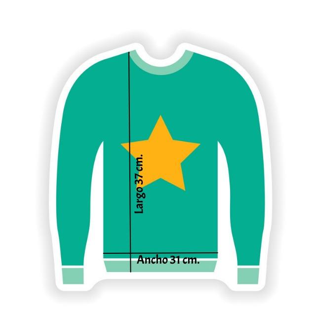 sweater con medidas