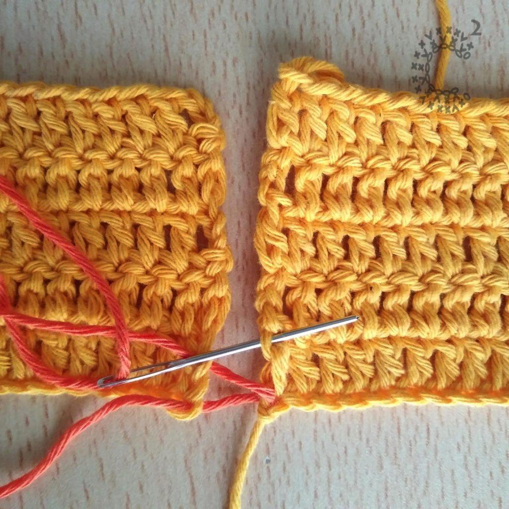 costura diagonal crochet