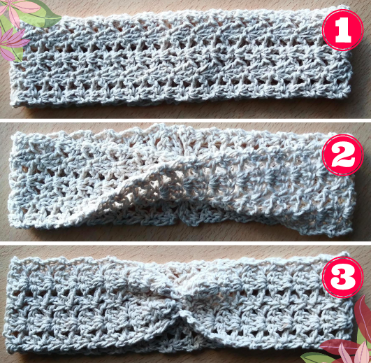 opciones de vincha al crochet