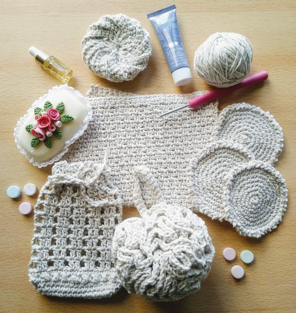 set de baño crochet