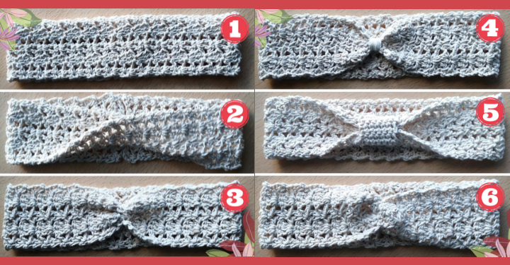 vincha tejida al crochet