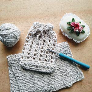 bolsita contenedora crochet