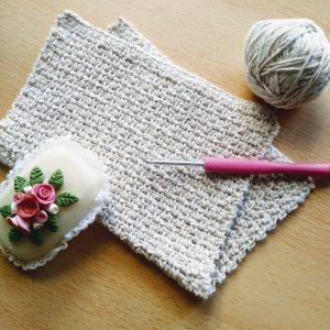 toalla individual crochet