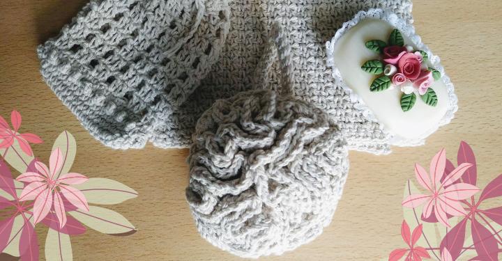 esponja baño al crochet