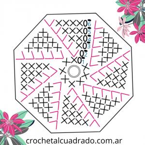 octogono crochet diagrama