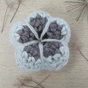 flor crochet 3D