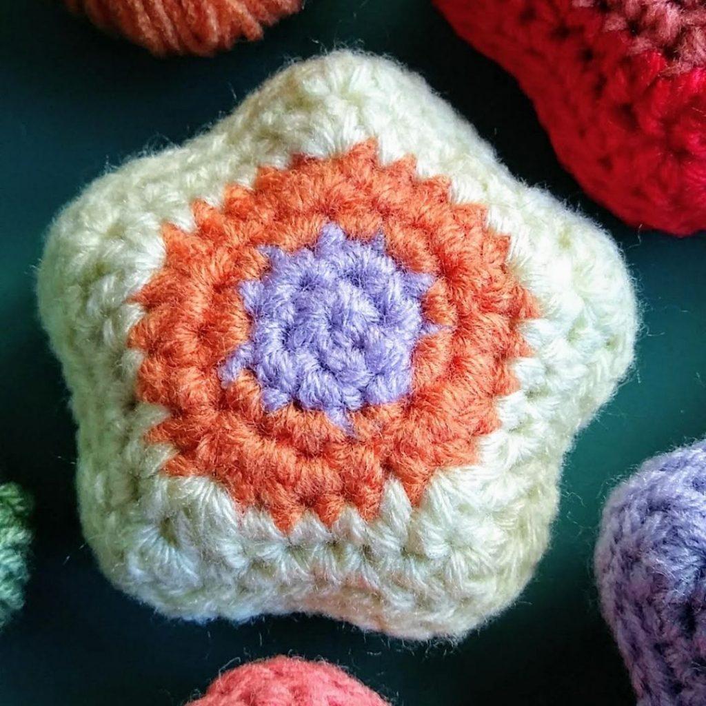 estrella doble al crochet
