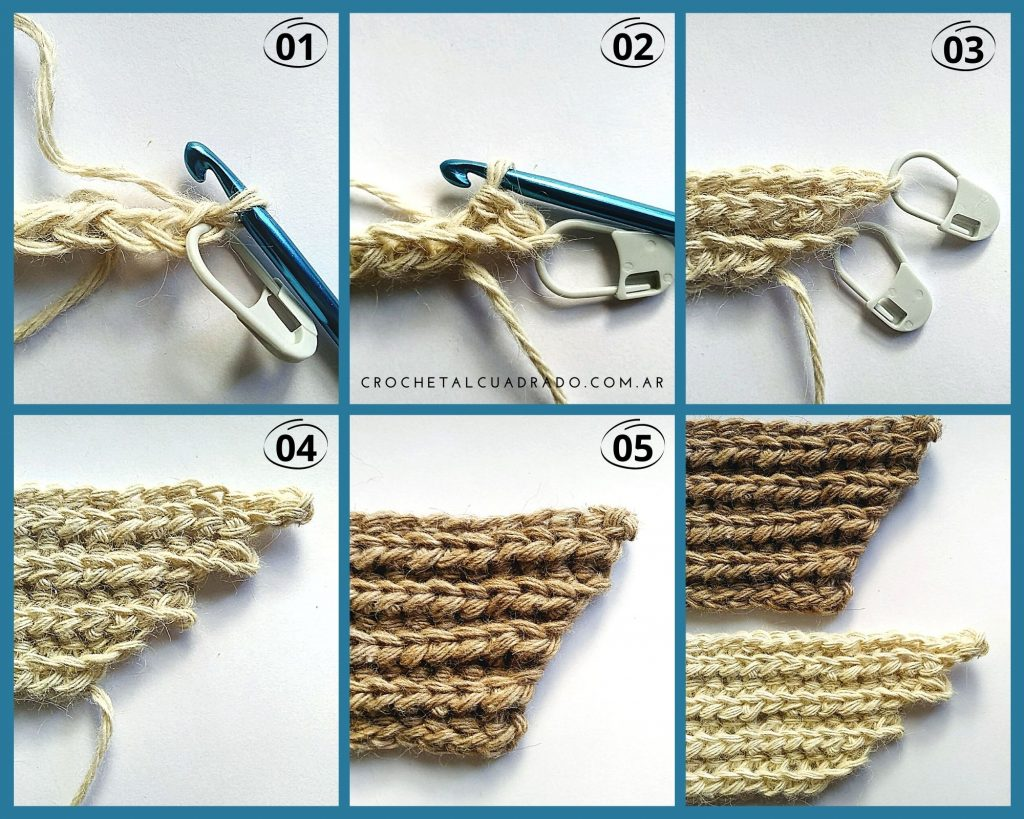 aumento punto ingles crochet