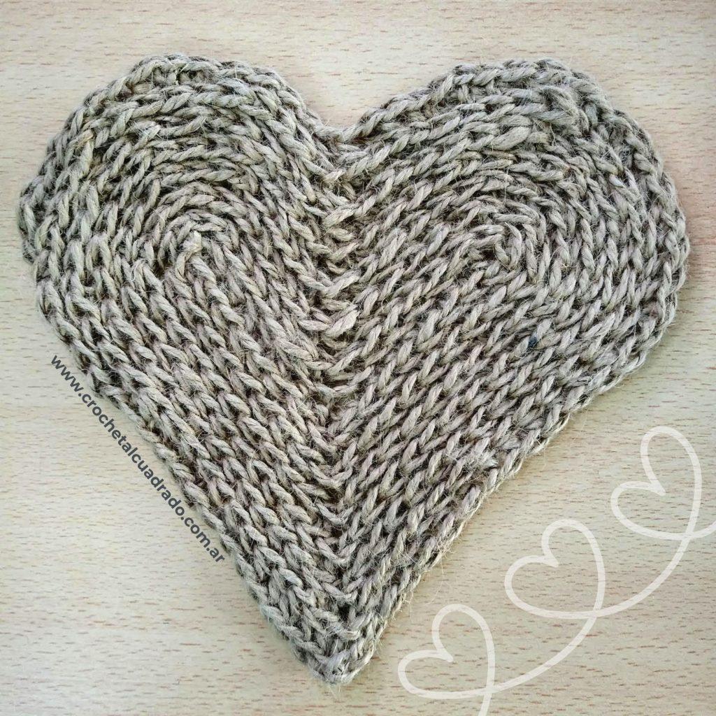 corazon yute sisal crochet