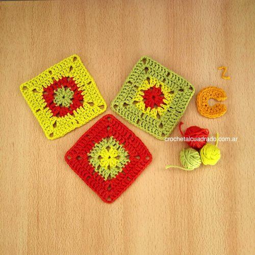 trio cuadrado semi compacto a color